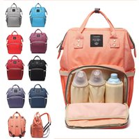 Wholesale diaper camp resale online - 19 Colors Mommy Diaper Bags New Multifunctional Backpacks Fashion Mother Backpacks Maternity Backpacks Mommy Changing Bags MMA2378