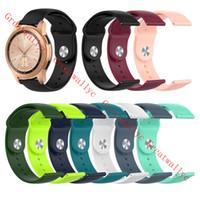 Wholesale samsung gear bracelet resale online - 18mm mm mm Silicone Watchband for Samsung Galaxy Watch mm mm Active2 mm mm Gear S2 S3 Strap Band Bracelet Xiaomi Watch