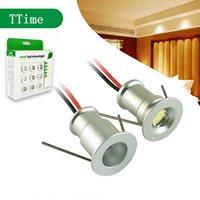 ingrosso luci di zoccoli-1W Mini LED da incasso Faretto da incasso a soffitto Plafon Spots lampadina Plinth della cucina gabinetto punto scala parete della luce 12V della lampada impermeabile