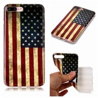Wholesale iphone xr flag case online – custom Retro USA Flag Soft IMD TPU Case For Samsung S20 S10 S9 Note10 Iphone Pro XR XS MAX X Vintage Old United States America Flag Cover