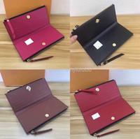 kadın bayan tasarımcı cüzdanı toptan satış-Kadınlar için toptan klasik bayanlar uzun cüzdan renkli tasarımcı sikke çanta kart sahibinin paketi orijinal bayanlar fermuar cüzdan cebi