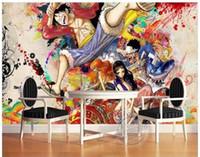 etiquetas do japão para miúdos venda por atacado-Tamanho personalizado 3d foto papel de parede sala de estar quarto cama mural japão anime crianças sala 3d imagem 3d sofá tv pano de fundo papel de parede não-tecido adesivo