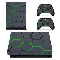 отличительные знаки контроллера xbox оптовых-Leaf Skull Camo Виниловая наклейка для консоли Xbox One X и 2 игровых приставок для контроллеров