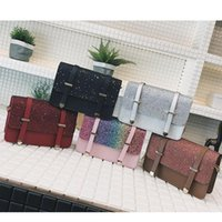 Wholesale sequins stars for sale - Group buy 5styles Sequin Small Square Bag Fashion Chain Flap Shoulder Bags Women crossbody Handbags Sequins Black Brown Messenger bag FFA2323