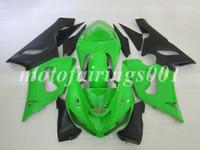 zx6r özel toptan satış-4 Gifts Ücretsiz Özel Yeni ABS Kaporta seti KAFATASı Ninja ZX-6R 05 06 ZX-636 ZX636 ZX636 ZX636 ZX6R 2005 2006 ZX 636 6R yeşil siyah