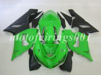 verde zx6r venda por atacado-4Gifts Livre Personalizado Novo Conjunto De Carroçaria ABS Carenagens kits Para KAWASAKI Ninja ZX-6R 05 06 ZX-636 ZX636 ZX6R 2005 2006 ZX 636 6R verde preto