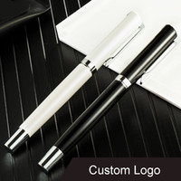 Wholesale custom stationery for sale - Group buy Free DHL Luxury Black Gel Pen Metal Signature Pens School Office Supplies Stationery Custom Logo Advertising Business Gifts M740F