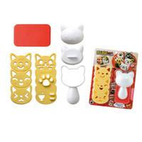 рисовая сушилка суши оптовых-Суши плесень милый кот в форме риса мяч плесень DIY суши чайник кухня суши делая инструменты W9019