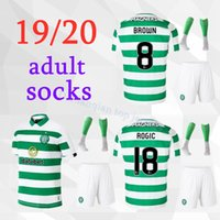 kits de futebol marrom venda por atacado-19 20 MCGREGOR GRIFFITHS homens Kit meias de futebol New Celtic SINCLAIR FORREST CASTANHO ROGIC CHRISTIE Camisas de Futebol em casa conjunto adulto