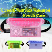 Wholesale underwater bag for cellphone resale online - For Universal Waist Pack Waterproof Pouch Case Water Proof Bag Underwater Dry Pocket Cover For Cellphone Mobile Phones Samsung LG free DHL