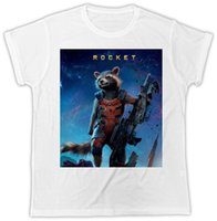 Wholesale galaxy posters resale online - FUNNY GUARDIANS OF THE GALAXY ROCKET RACOON POSTER IDEAL GIFT UNISEX MENS TSHIRTFunny Unisex Casual Tshirt