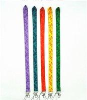 anahtar kayış logosu toptan satış-Renkli kelebek İpi Yeni Moda Anahtarlık Boyun İpi Askı Boyun Geçiş Logo Ücretsiz Kargo ile Logo KIMLIK Sahipleri