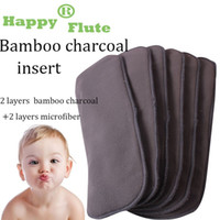 Wholesale baby cloth diapers insert for sale - Group buy 2020 Happy Flute Quality Baby Nappies Bamboo Charcoal Liner Nappy Diaper Insert for Baby Cloth Diaper Nappy Washable Layers