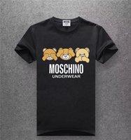 m broca venda por atacado-Novo Designer de Moda Marca de Perfuração Quente Crânios T Shirt Dos Homens de Roupas T Camisas Para Homens Tops de Manga Curta Tshirt homens Tops 3D8806