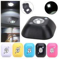 ingrosso luci di emergenza a batteria di emergenza-Mini lampada da notte a LED wireless a infrarossi con sensore di movimento attivato Luci a batteria alimentata a batteria da notte per armadio guardaroba