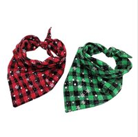 Wholesale large pet bandana for sale - Group buy Dog Bandana Christmas Classic Plaid Snowflake Pet Scarf Triangle Bibs Kerchief Pet Accessories Bibs for Small Medium Large Dogs Xmas Gifts
