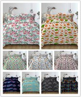 Wholesale green twin bedding sets for sale - Group buy Carton Lovely Style D Printing Bedding Set with Pillowcase For Twin Full Queen King All Size