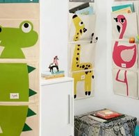 Wholesale door storage organizer resale online - Wall Closet Hanging Storage Organizer Bag Toys Container Pocket Pouch Pockets Wall Mounted Toys Organizer LJJK1769