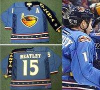 ingrosso ritorno al hockey-Personalizzata DANY HEATLEY Atlanta Thrashers 2003 CCM Throwback Hockey Jersey