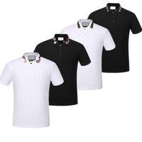 namenshemden marken großhandel-.2019 Neue Luxus Herren Marke Medusa gestreifte Biene POLO Shirt Kurzarm Marken T-Shirt Französisch Herren T-Shirt Herren Sommer Fitness Wear M