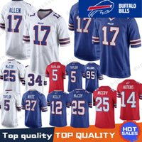 17 Josh Allen Buffalo Bills Jersey 49 Tremaine Edmunds 12 Jim Kelly 25  LeSean McCoy 34 Thurman Thomas 99 Dareus 95 Kyle Williams Stitched 7aaccf562