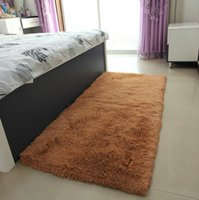 Wholesale high quality coffee tables resale online - New thick washed silk hair non slip carpet home High Quality living room coffee table bedroom bedside yoga mat