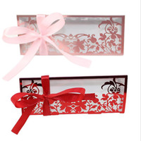 Wholesale sweets package for wedding resale online - New European Style Graceful Sweet Candy Box Packaging Gift Box For Wedding Party Favor Decor Clear PVC Flower Print Display Box