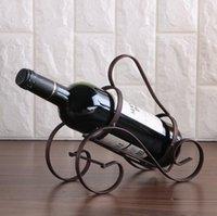 dövme demirini yenilemek toptan satış-Eski Yolları Küçük Fort Şarap Pratik Ferforje Electroplating Şarap Tutucu Şarap Şişeleri Dekor Ekran Raf Raf Restore Yeni