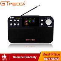 pocket-audio-player großhandel-Professionelles schwarzes GTMedia DR-103B Digitales UKW-Radio DAB + Radio Stero für UK EU mit eingebautem Bluetooth-Farbbildschirm