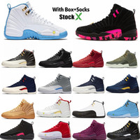 Wholesale taxi black box resale online - Basketball FLYMAN OG Taxi Flu Game Cherry Barons Alternate Designer Shoes Sneakers Sports XII With Box