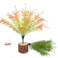 künstliche pflanzen desktop großhandel-Künstliche Weiche Hand Touch Persian Leaf Simulation Farn Gefälschte Graspflanze Für Hochzeitsdekoration Hausgarten Büro Desktop Decor