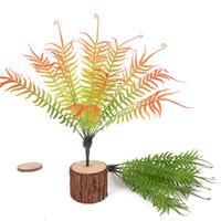 ingrosso falsi piani per ufficio-Mano morbida artificiale tocco persiano simulazione foglia di felce finto pianta d'erba per la decorazione di nozze giardino di casa ufficio Desktop Decor