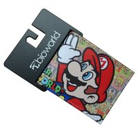 Wholesale super mario wallets resale online - Super Mario World Wallets PU Leather Gift Purse for Young Cartoon Anime Card Holder Money Bags Funny Games Short Wallet