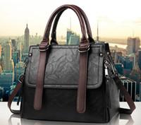 modern vintage çanta toptan satış-Yeni Sıcak Casual Kadın Omuz PU Deri Vintage Stil Kadın El Çantası Modern Moda Bayanlar Çanta