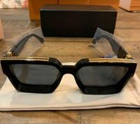 óculos de sol de armação quadrada preta venda por atacado-Homens Mulheres Marca de Moda Milionário Óculos De Sol Preto Quadrado Oversized Evidence Óculos de Sol qualidade de Luxo COM CAIXAS ORIGINAIS polarizado
