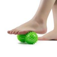 Wholesale foot silicone toys for sale - Group buy Peanut Shape Massage Ball Adult Foot Muscles Tension Relief Massor Stress Relief Sports Toy Pieces ePacket