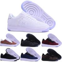 botas de tortuga kanye west al por mayor-Nike air max force 1 fly 2019 fuerzas Hombres Mujeres Low Cut one 1 zapatos Blanco Negro Dunk Zapatillas de skate Clásico AF fly Entrenadores zapatillas de aire de punto alto