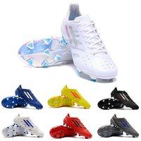 botas brillantes al por mayor-The Limited Edition Adidas X99 19.1 FG Botas de fútbol Blanco Bright Cyan Shock Pink-Firm Ground Hombres y niños X 99.1 Cleats