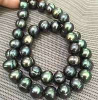 Wholesale tahitian pearls necklaces for sale - Group buy Elegant tahitian mm peacock green pearl necklaces inch k gold clasp