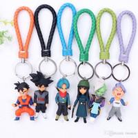 Wholesale ring style japan for sale - Group buy 6 Style Dragon Ball Z Key ring toy PVC Kuririn Vegeta Goku SON Gohan Piccolo Freeza Beerus model Action Figures Keychain kids toys