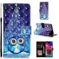 ingrosso caso di vibrazione del iphone della farfalla-Custodia a portafoglio in pelle 3D per Samsung A70 A60 A50 A30 A30 A10 A10 A10