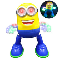 Wholesale electronics china free shipping resale online - Despicable Me Minion Dancing Musical Llight Electronic Toys Minions Action Figure Toys Doll Kids Christmas Gift