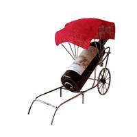 ingrosso miniature cinesi-Accessori per la casa calda Accessori Rickshaw del metallo dell'annata del metallo dell'annata Ornamenti di mestieri Mensola del vino Miniature Regali del Governo del vino