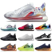 siyah öfke toptan satış-Nike Air Max 720 Shoes Erkekler Kadınlar için koşu Ayakkabıları Sunset DESERT ALTıN Erkek Eğitmenler Spor Sneakers 36-45 Toptan