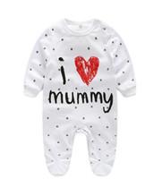 ingrosso bodysuit dei neonati-Neonato Tuta Ragazza Vestiti Baby Girl Boy Pagliaccetto in cotone a maniche lunghe Unisex Abbigliamento per neonati Bebè