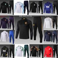 Wholesale full uniforms soccer resale online - Real Madrid Marseille Rome Palmeiras inter milan tracksuit Benfica jacket Training suit MEN uniform