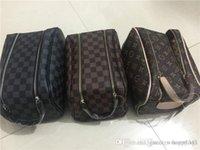 ingrosso borsa da viaggio di trucco-Borsa cosmetica delle donne organizzatore del sacchetto della borsa del progettista di marca di modo del sacchetto di trucco di trucco delle signore del sacchetto di cluch delle borse di bagaglio del organizzatore 4pcs