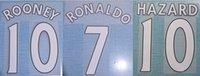 2015-2017 home RONALDO ROONEY HAZARD white nameset patch badge