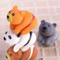 ingrosso fare miniature-Ornamenti bambola a forma di orso fai da te Carino fatto a mano arti e mestieri in PVC per torta Figurine in miniatura decorazione novità articoli CCA10947 200 pezzi