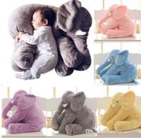 karikatür çocuklar uyku toptan satış-INS Filler Yastık 40 cm Yumuşak Bebek Fil Yastık Karikatür Hayvanlar Çocuk Uyku Yastık INS Fil Peluş Oyuncaklar Doğum Günü Hediyesi için çocuk